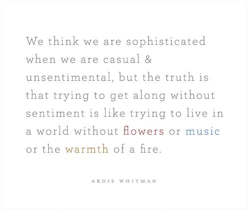 Sentimentality quote #2