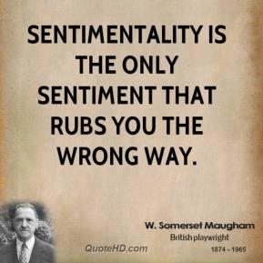 Sentimentality quote #1