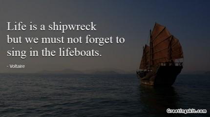 Shipwreck quote #1