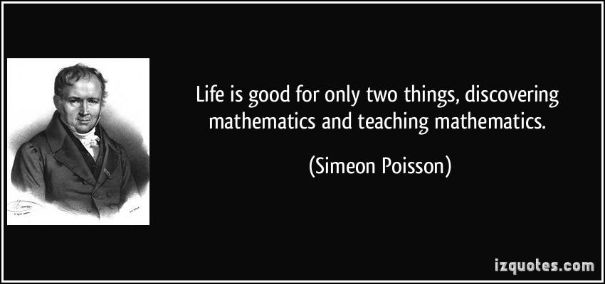 Simeon Poisson's quote