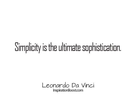 Simplicity quote #1