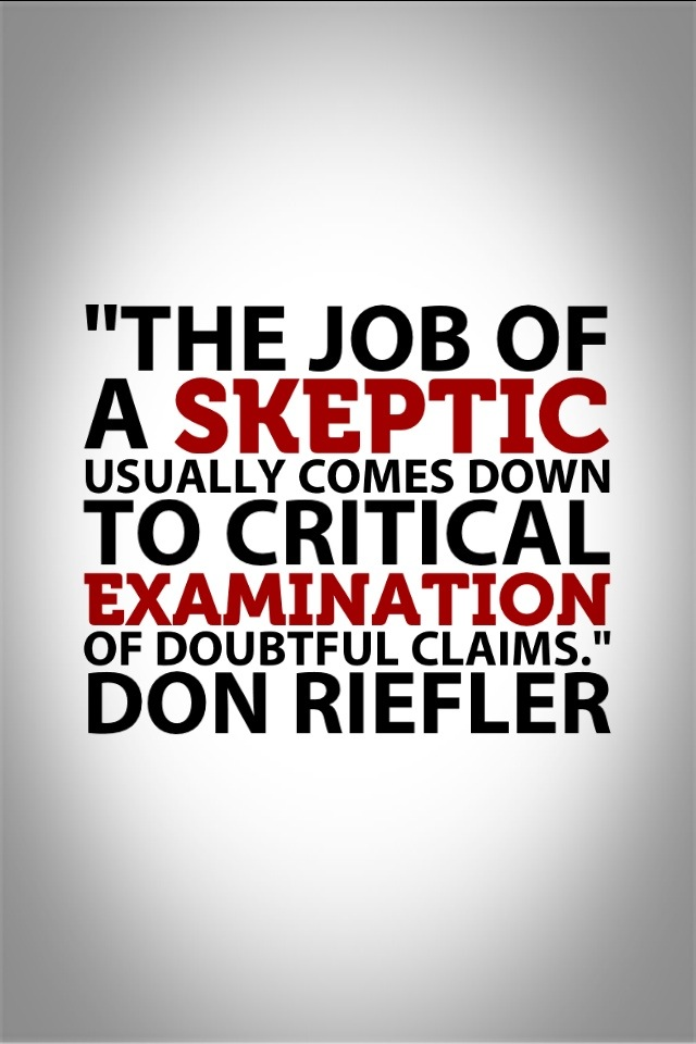 Skeptic quote #1