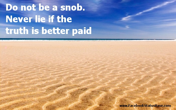 Snob quote #1