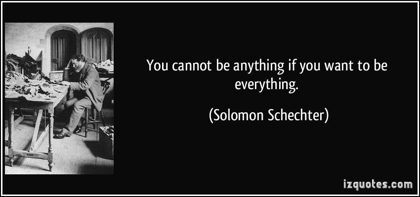 Solomon Schechter's quote #1