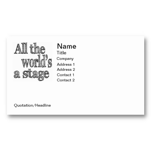 Famous Quotes From Plays: Famous Quotes About 'Stage Play'