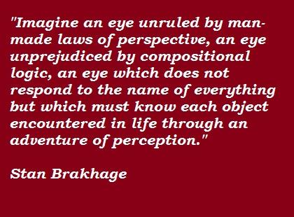 Stan Brakhage's quote #3