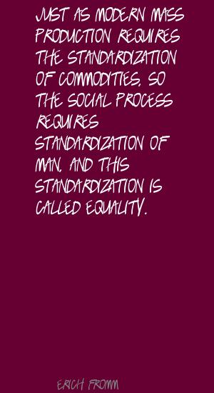 Standardization quote #1