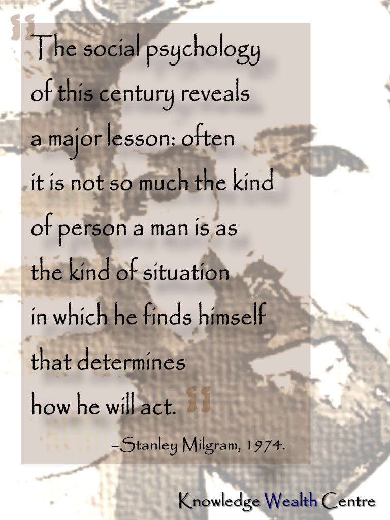 Stanley Milgram's quote #1