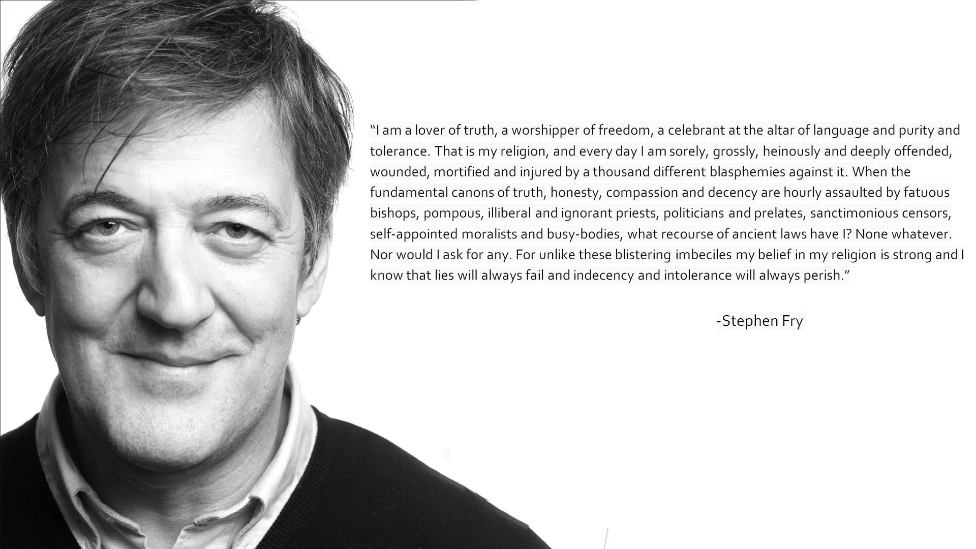 Stephen Fry's quote