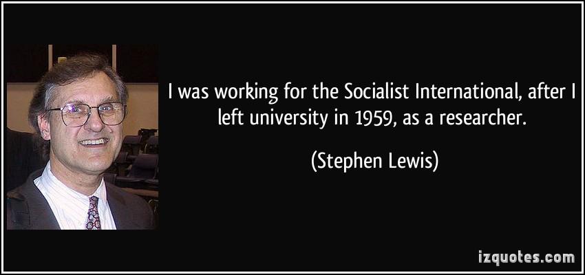 Stephen Lewis's quote #3