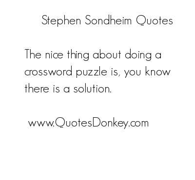 Stephen Sondheim's quote #2