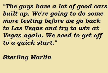 Sterling Marlin's quote #6