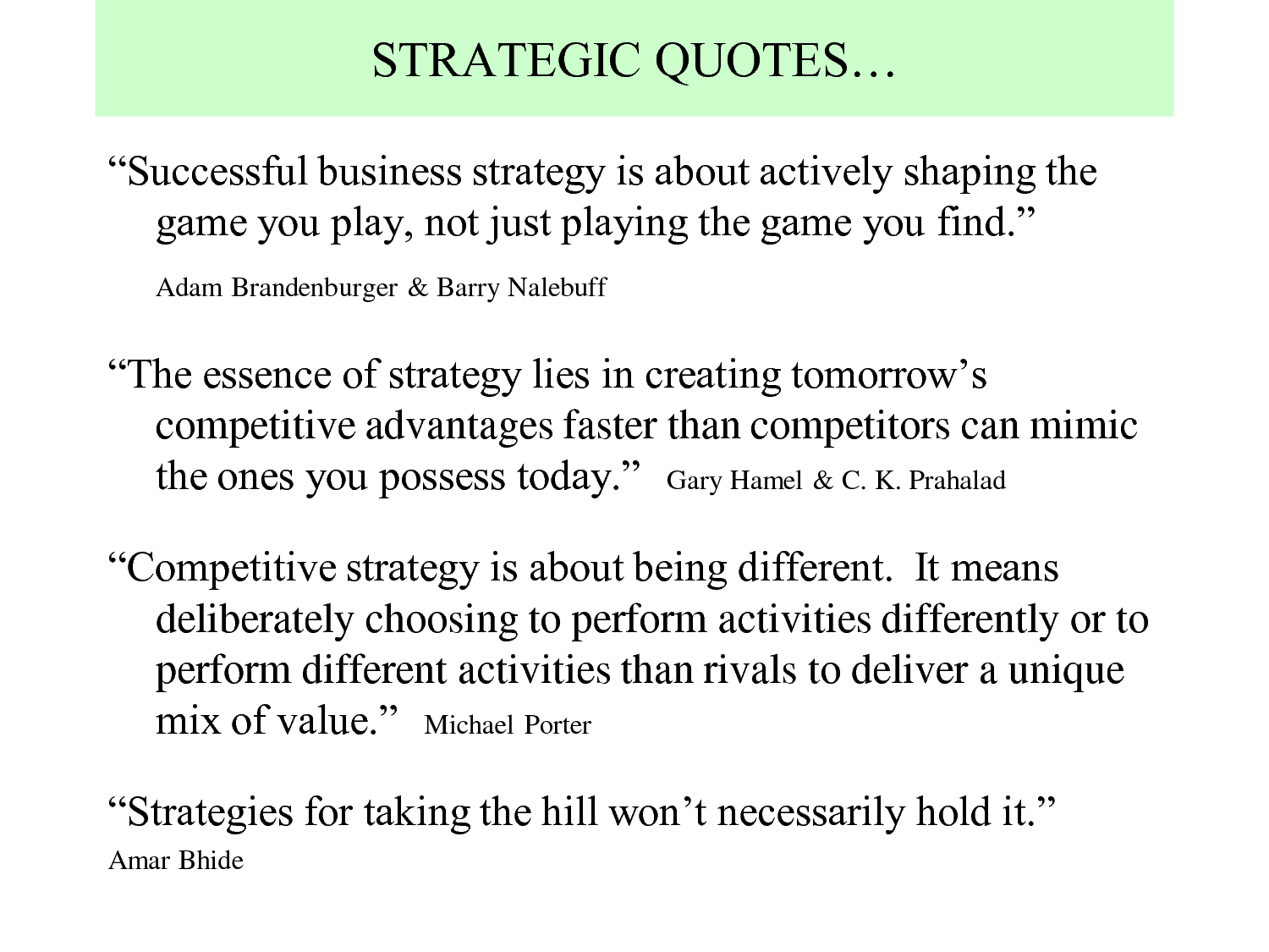 Strategy quote #4
