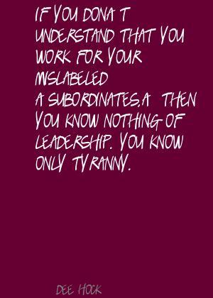 Subordinates quote #2