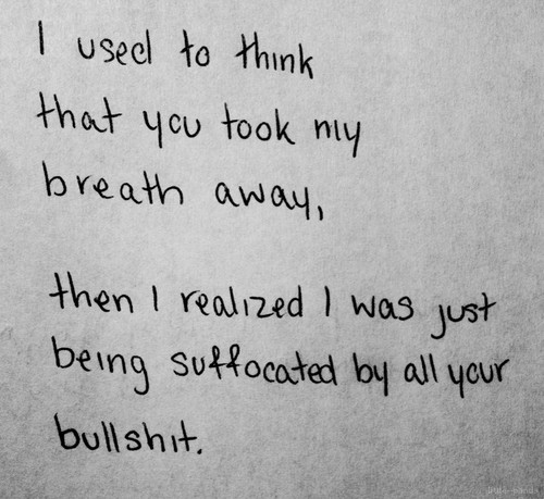 Suffocated quote #1
