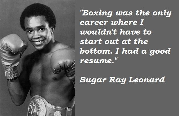Sugar Ray Leonard's quote #3