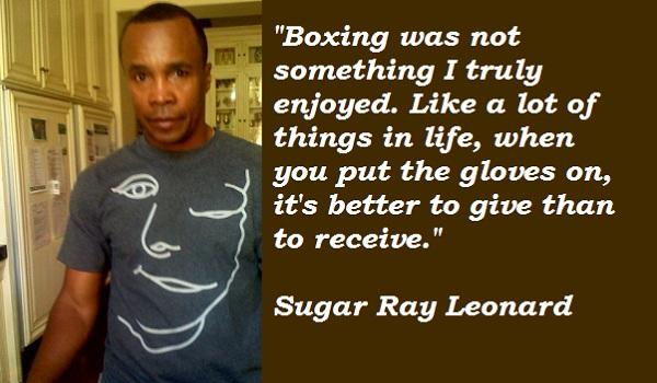 Sugar Ray Leonard's quote #2