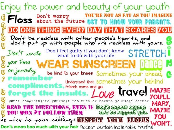Sunscreen quote #1