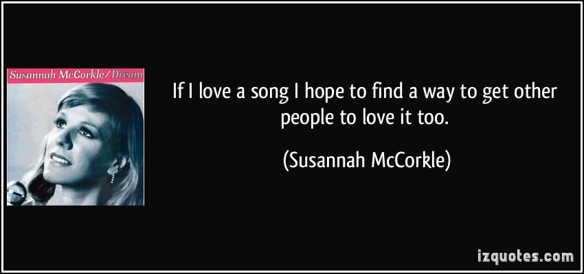 Susannah McCorkle's quote #5