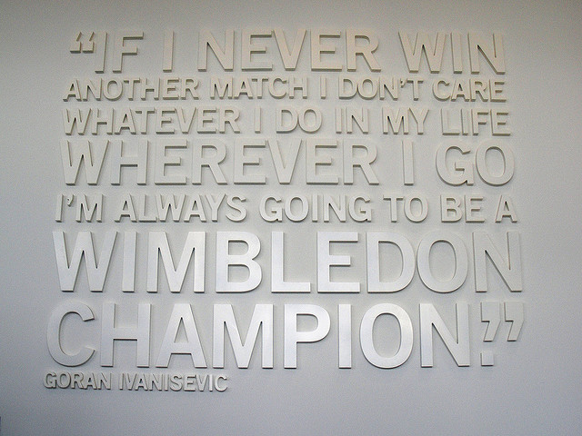 Tennis Player quote #1