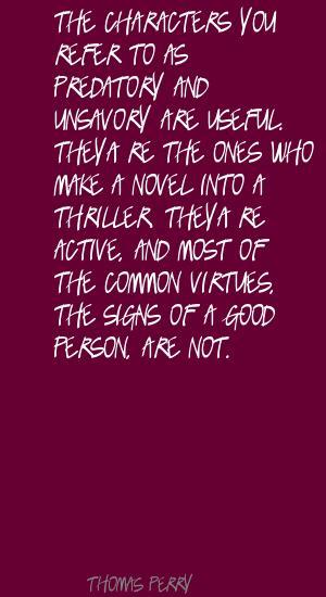 Thomas Perry's quote #8