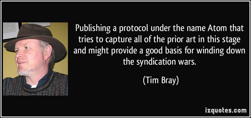 Tim Bray's quote #1