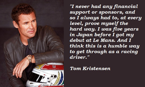 Tom Kristensen's quote #2