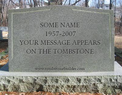 Tombstone quote #1