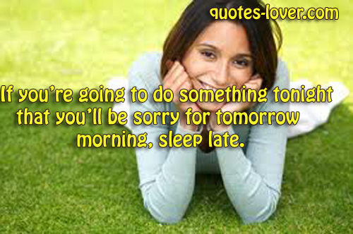 Tomorrow Morning quote #2