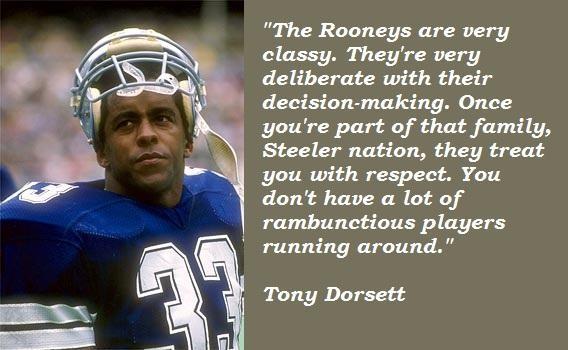 Tony Dorsett's quote