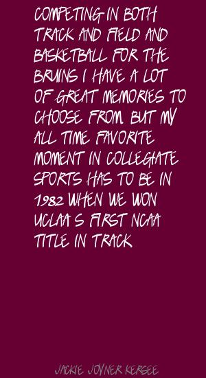 Track And Field quote #1