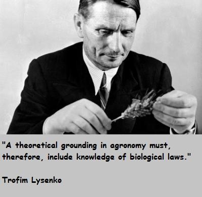 Trofim Lysenko's quote