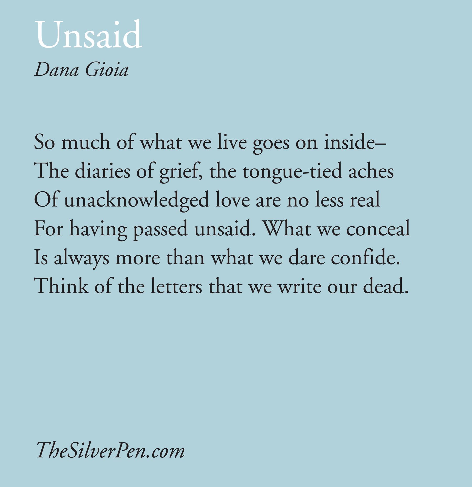 Unsaid quote #2
