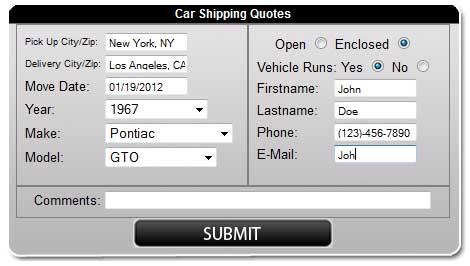 Vehicle quote #2
