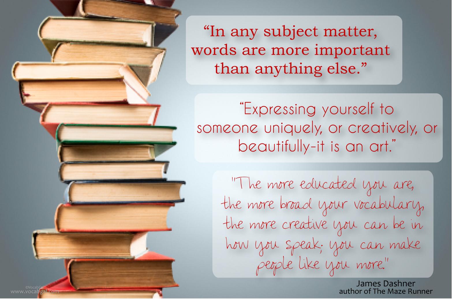 Vocabulary quote #3