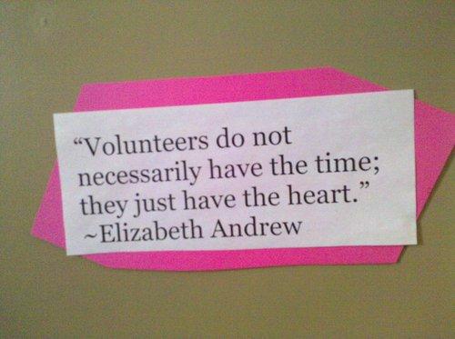 Volunteered quote #2