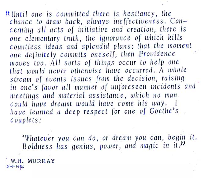 W. H. Murray's quote #1