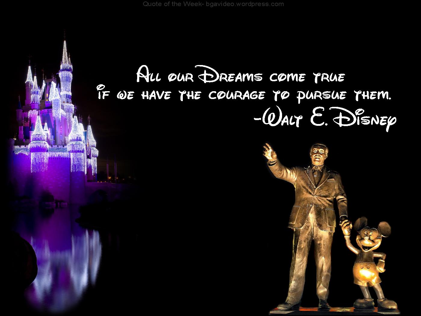 Walt Disney quote #1