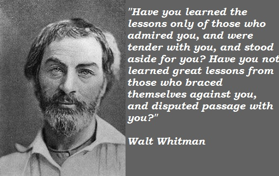 Walt Whitman quote #1