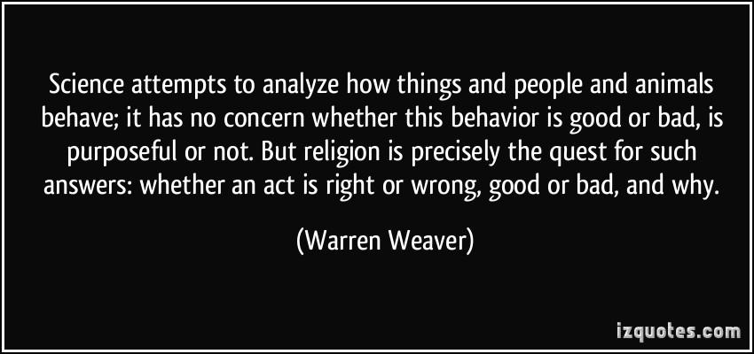 Warren Weaver's quote #1
