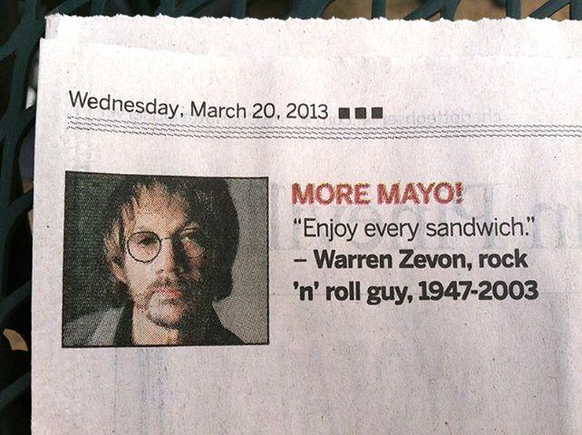 Warren Zevon's quote #4