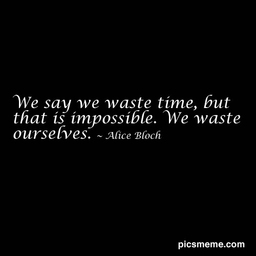 Waste Time quote #2