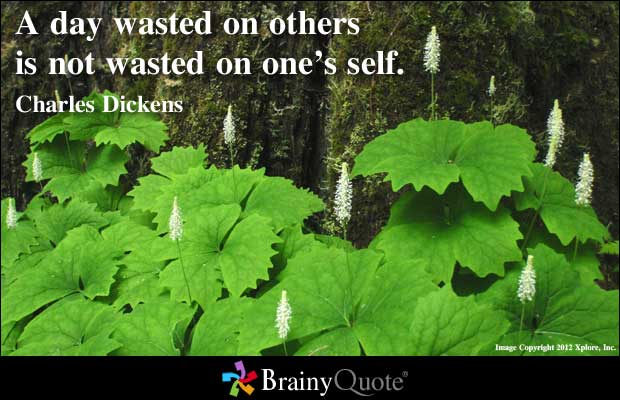 Wasting quote #1
