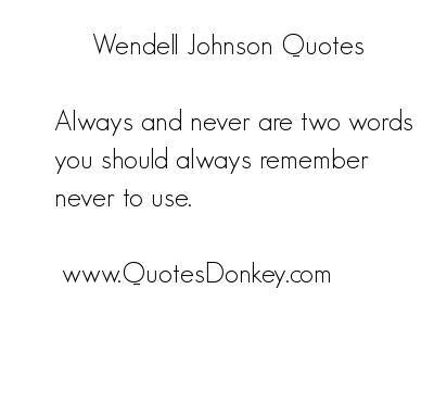 Wendell Johnson's quote #1