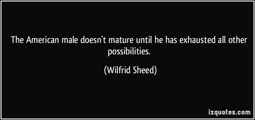 Wilfrid Sheed's quote