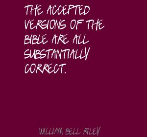 William Bell Riley's quote #1