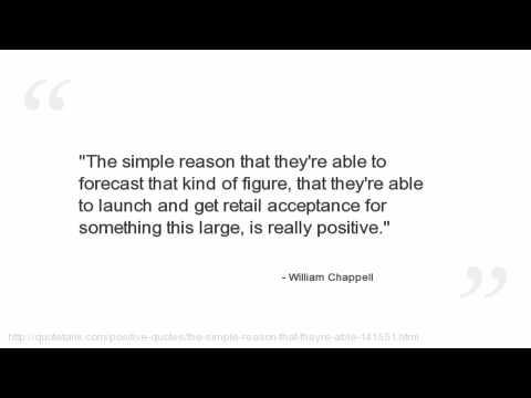 William Chappell's quote #1