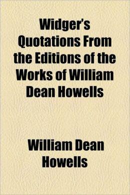 William Dean Howells's quote #4