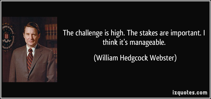 William Hedgcock Webster's quote