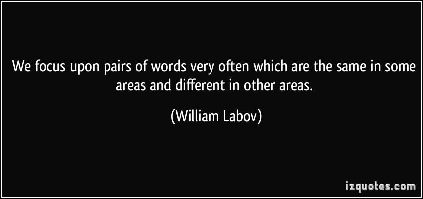 William Labov's quote #4